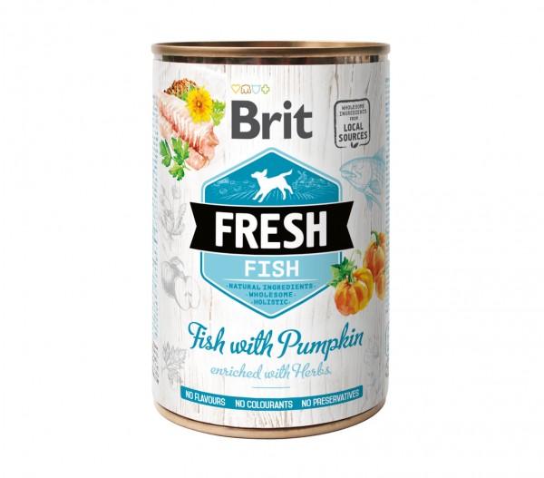 Brit Fresh Nassnahrung - Fisch mit Kürbis - 400g Dose