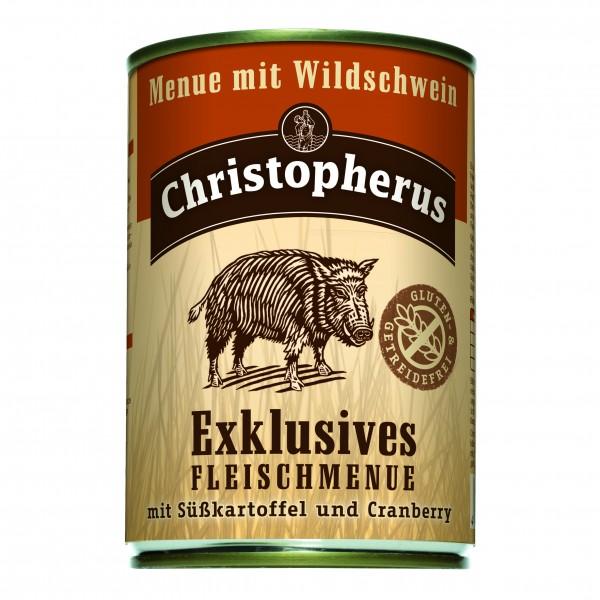 Christopherus Exklusives Fleischmenue mit Wildschwein mit Süsskartoffel und Cranberry