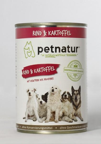 petnatur Rind & Kartoffel - Mit Kräutern der Provence 6X400G