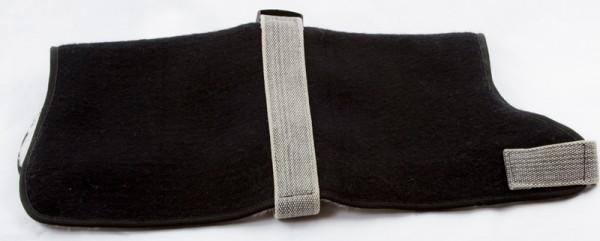 Hunde-Mantel gefüttert, schwarz (versch. Größen)