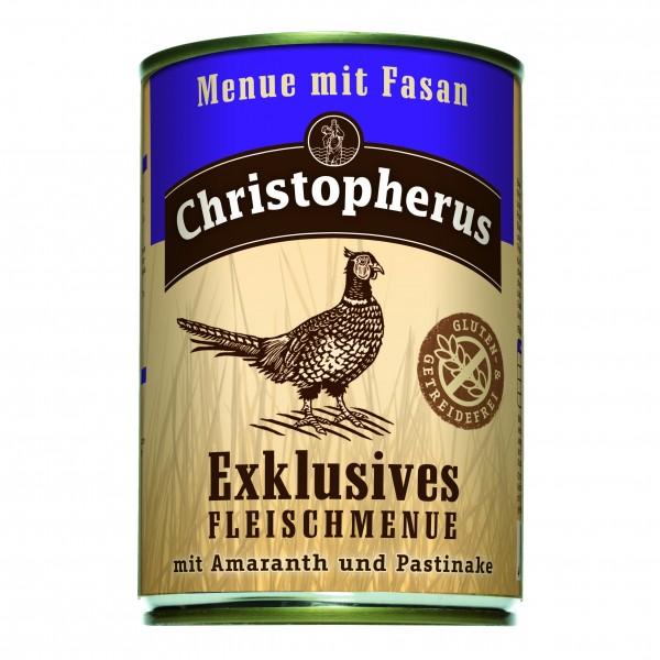 Christopherus Exklusives Fleischmenue mit Fasan Amaranth und Pastinake