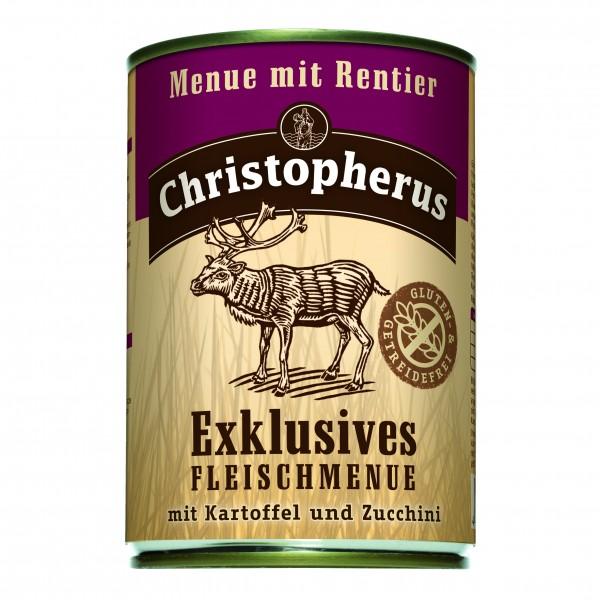 Christopherus Exklusives Fleischmenue mit Rentier mit Kartoffel und Zucchini
