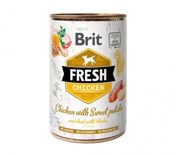 Brit Fresh Nassnahrung - Huhn mit Süßkartoffel - 400g Dose