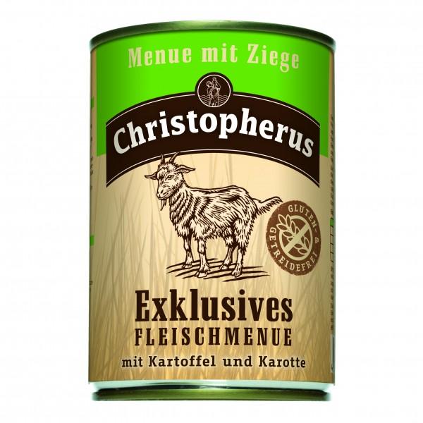 Christopherus Exklusives Fleischmenue mit Ziege mit Kartoffel und Karotte