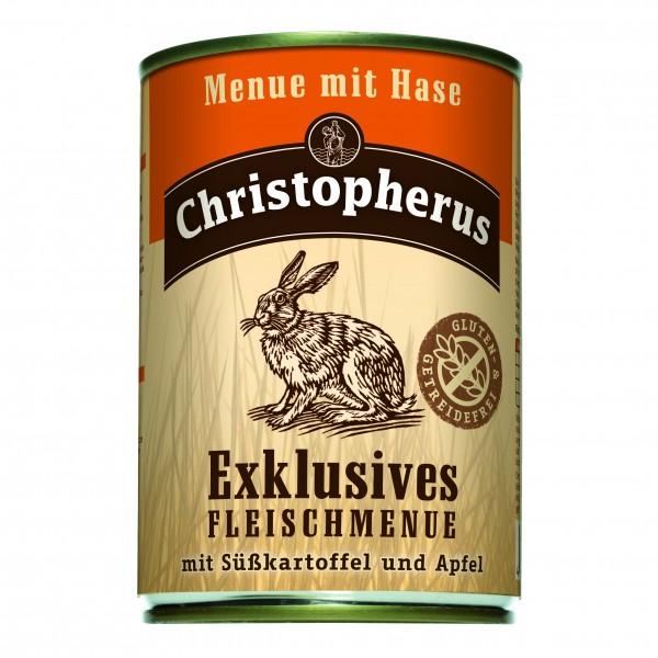 Christopherus Exklusives Fleischmenue mit Hase Süsskartoffel und Apfel