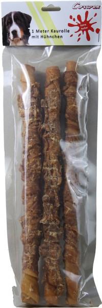 1M Kaurolle mit Huhn, 3x34 cm (315 g) – Zilinski Hundesnacks
