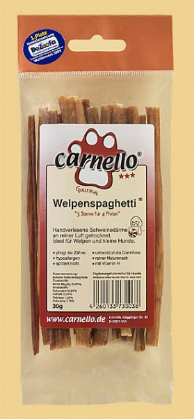 Carnello Welpenspaghetti 30 g – Zilinski Hundesnacks